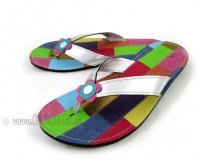 Flip-flops Mimi Silver with Flower