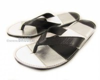 Flip-flops Mimi Silver and White