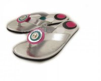 Flip-flops Mimi silver - different decorations