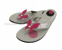 Flip-flops Mimi Silver with Butterfly