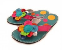 Flip-flops Rozi Blue with Circles