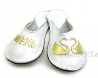 Wedding Slippers with Swan - Bride