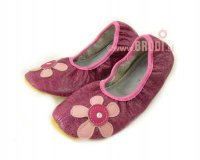 School Slippers with Flower