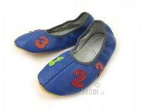 School Slippers Blue with Numbers