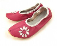 School Slippers Pink with Daisy