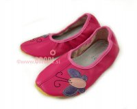 School Slippers Pink with Butterfly