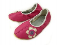 School Slippers Pink with Flowers