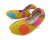 School Slippers Yellow with Circles