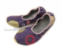 School Slippers Purple with Circle
