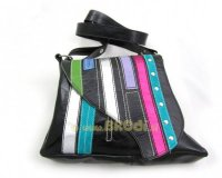 Handbag Ella Black with Stripes