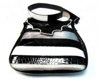 Handbag Fiona Black and Silver