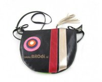 Handbag Mini Black with Stripes and Circle