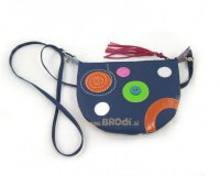 Handbag Mini Blue with Circles