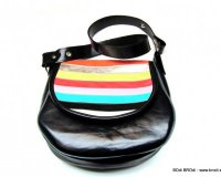 Handbag Olivia Black with Stripes