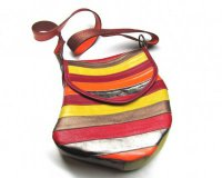 Handbag Stupaela Red with Stripes