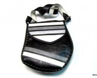 Handbag Stupaelika Black with Stripes