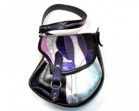 Handbag Stupaelika Black and Shiny