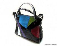 Handbag Zara Black Colourful