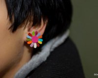 Leather Earrings Flower