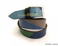 Leather Belt Blue and Brown