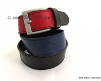 Leather Belt Red and Blue