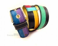 Leather Belt Kiri Colourful Mix