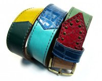 Leather Belt Kiri Rectangles