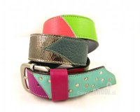 Leather Belt Kiri Colourful with Metal