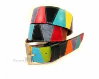 Leather Belt Kiri Cubes Colours