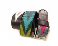 Leather Belt Kiri Black and Colourful