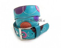 Leather Belt Kiri Turquoise