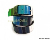Leather Belt Kiri Blue and Green