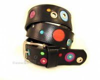 Leather Belt Kiri with Dots and Metal