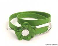 Leather Belt Manja Green