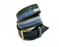 Leather Belt Green and Jeans