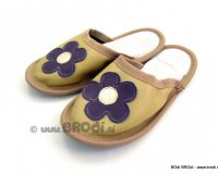 Leather Slippers Classic Beige