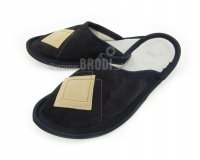 Leather Slippers Classic Black