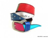 Leather Belt Kiri with Blue